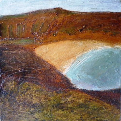 John Emanuel Porthmeor Cove St Ives oil on canvas